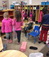 Shoe store in action!