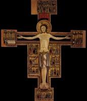 Artista pisano, Croce della Chiesa del Santo Sepolcro, 1150-1200 ca, tempera e oro su tavola, cm 282x236.