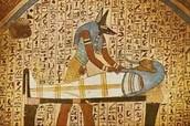Egyptian dog god Anubis