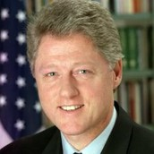 Bill in front of U.S flag