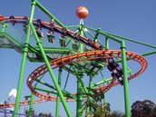 Roller coasters are popular all over the world.