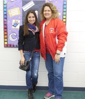 Laura and Mrs. Cruz, SHS Librarian