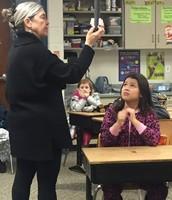 Mrs. Dunn's class with guest presenter