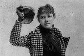 NELLIE BLY'S PHOTOSHOOT FOR HER BOOK 72 DAYS AROUND THE WORLD