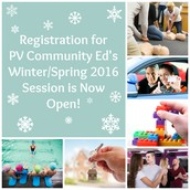 Community Ed Winter/Spring 2016 Class Registration is Now Open