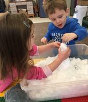 Mrs. Stimmel's class had fun making mini snowmen INDOORS!