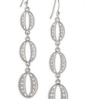 Kimberly Drop Earrings in silver