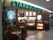 The starbucks Shop.
