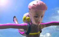 Skydiving Barbie!