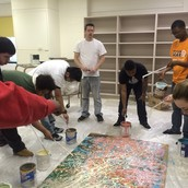 GETTING MESSY WHILE CREATING ART