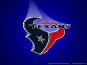 The logo of the texans with light on it