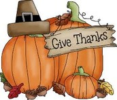 Thanksgiving Holiday Break November 24-28