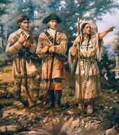 Lewis & Clark with Sacajawea.