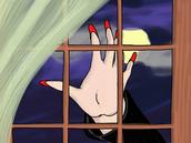 58. Long Red Fingernails