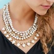 Sutton Necklace - White Stone - SOLD
