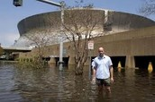 The super dome after the Hurricane