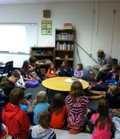 Morning meeting with 5th grade Book Buddies.