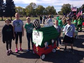 """4th Grade """"float"""" for the Homecoming Parade"""