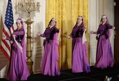 Traditional Dancing at the white house
