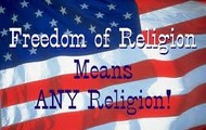 freedom of religion means any religion