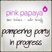 At a Pink Papaya Spa Party ;)