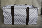 Deluxe Utility Tote - Taupe Gingham (Retired print) $35