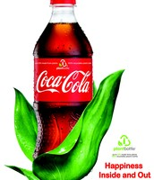 Coca-Cola's Bottles are composed of 30% plant material