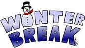 Dec. 22nd - Jan. 2nd - Winter Break - NO SCHOOL