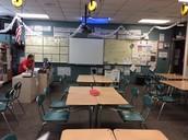 Asymmetrical math room.