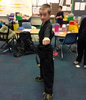 Nick the ninja from Magic Tree House Ninjas