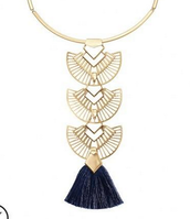 Aida Tassle Necklace - Can be worn with any of the pieces separately