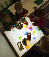 Fun at the light table