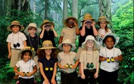 Having our Picture Made in the Rainforest!