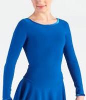 plain blue dress for dance and elements ladies figure skating dress