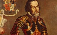Hernán in his armor