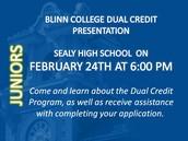 February 24th Dual Credit Presentation