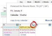Weather Forecast in Google Calendar