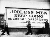 25% unemployment rate.