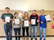 HAHS Students turning in their CHAMP permission forms!