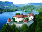 This is an overview of Lake Bled