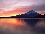 Mt. Fuji by lake