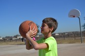Gabriel Playing Basketball