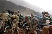 American Troops fighting in Afghanistan