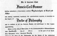 copy of Francis Sumner Ph.D