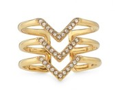 Pave Chevron Ring - Gold
