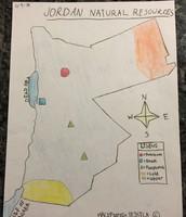 Jordan Natural Resources Map