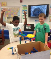Noah and Jah'Quez built a marble run!