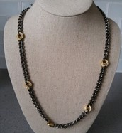 Hematite Link Chain Necklace