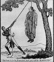 Andrew Jackson hanging John Q Adams