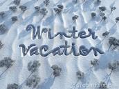 Dec. 21nd - Jan. 1st - Winter Break - NO SCHOOL